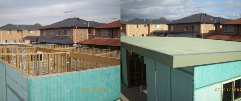 150mm insulated roof panels, supplied by Bondor and installed by Pink Roofing.